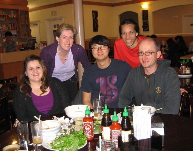 Lab dinner Spring 2012